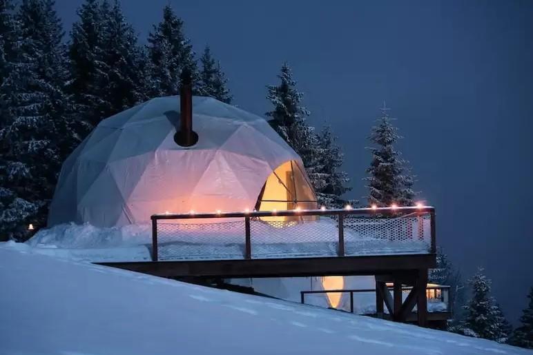 originele wintersport accommodatie zwitserland