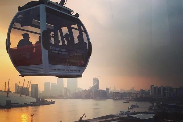 origineel overnachten Londen kabelbaan Emirates