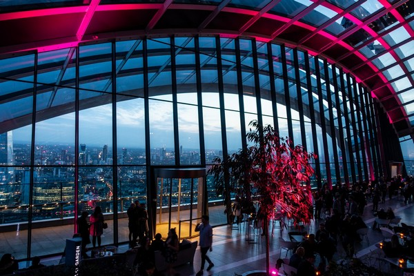 origineel overnachten Londen Sky garden