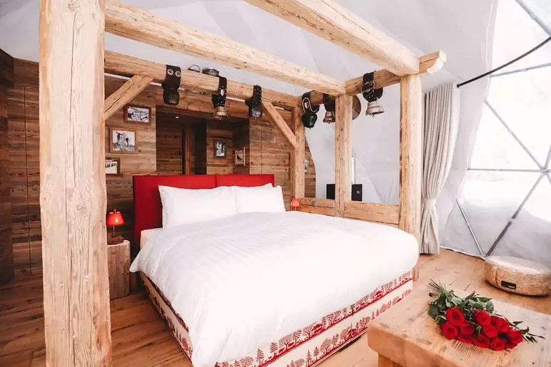 origineel overnachten huwelijksreis Zwitserland