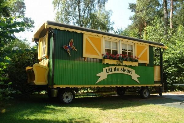 origineel overnachten camping huifkar woonwagen