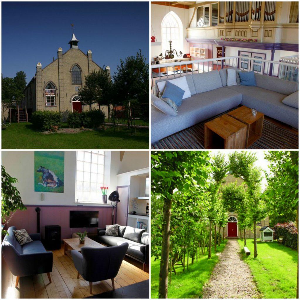 origineel overnachten kerk friesland nederland