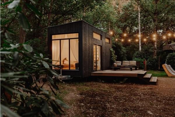 origineel overnachten tiny house belgie