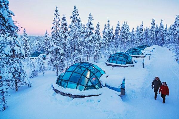 origineel overnachten finland iglo
