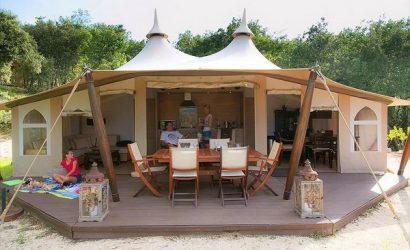 glamping tent camping frankrijk