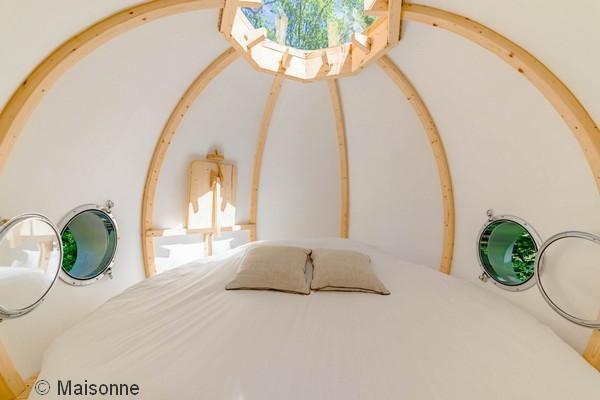 origineel overnachten glamping frankrijk boomhut