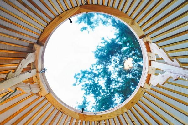 speciaal overnachten belgie glamping yurt