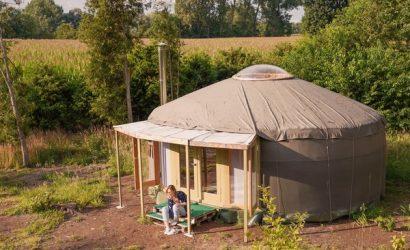 bijzonder overnachten belgie glamping yurt